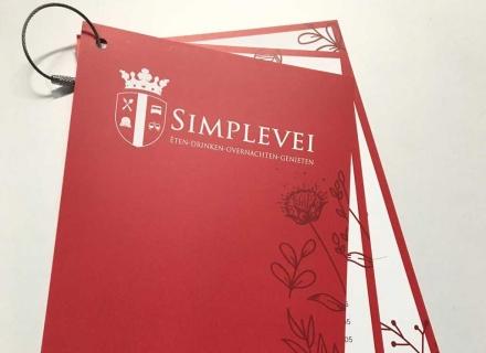 Menukaart voor Simplevei | Drukwerk