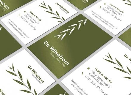 Drukwerk (Visitekaartjes) voor Vakantiewoning De Witseborn